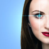 Medicine or biometric concept Royalty Free Stock Image