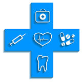 Medicine blue icon Royalty Free Stock Image