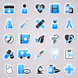 Medicine blue stickers Stock Photo