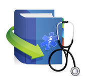 Medicine book with a Stethoscope Royalty Free Stock Images