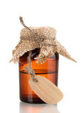Medicine bottle with blank label Royalty Free Stock Images