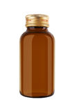 Medicine bottle of brown glass Royalty Free Stock Image