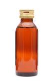 Medicine bottle. Brown medicine bottle on white background Stock Images