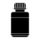 Medicine bottle capsule icon pictogram Stock Photos
