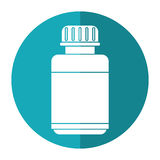 Medicine bottle capsule icon shadow Stock Image
