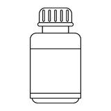 Medicine bottle capsule icon thin line Royalty Free Stock Photo