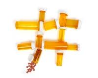 Medicine Bottle Hash-Tag stock photo