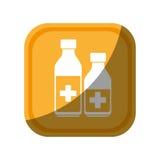 Medicine bottle isolated icon Stock Photos
