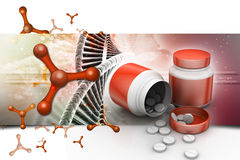 Medicine bottle and pills Royalty Free Stock Photography