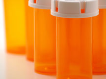 Medicine bottles 2 Stock Images