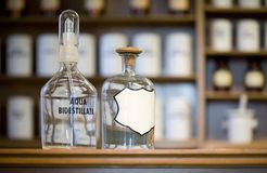 Medicine bottles. Blank label, free copy space Royalty Free Stock Photos