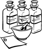 Medicine Bottles Stock Images