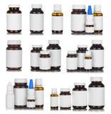 Medicine bottles isolated royalty free stock image