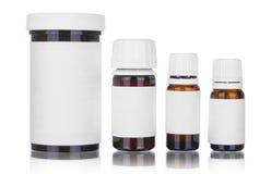 Medicine bottles isolated stock photo