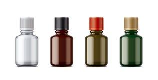 Medicine bottles mockup. Small size. Royalty Free Stock Photos