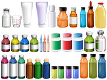 Medicine in bottles and tubes Stock Photography
