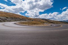 Medicine Bow Curve, Trail Ridge Road royalty free stock images