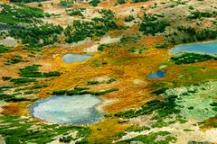 Medicine Bow National Forest Lakes. Small lakes dot the landscape of Medicine Bow National Forest in Wyoming royalty free stock photography