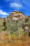Medicine Bow National Forest Landscape Wyoming. Rugged rocky landscape of Medicine Bow National Forest in Wyoming stock image
