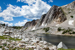 Medicine Bow National Forest. Part of the Snowy Range Pass, in the Medicine Bow National Forest, Wyoming royalty free stock image