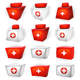 Medicine Box Icons For Ui Game Stock Photography