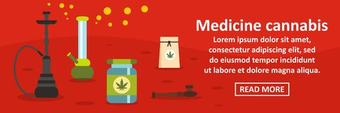 Free Medicine Cannabis Banner Horizontal Concept Stock Images - 98509104