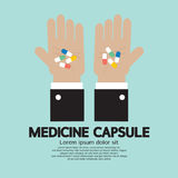 Medicine Capsule In Hand Stock Photo