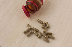 Medicine in capsule. Royalty Free Stock Images