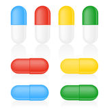 Medicine Capsule on white Stock Image