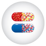 Medicine capsules Stock Photography