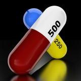 Medicine capsules. Royalty Free Stock Image