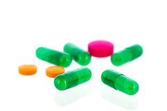 Medicine in capsules and pills Stock Photography