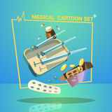 Medicine Cartoon Set Royalty Free Stock Photography