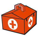 Medicine case. With full of medical instruments Royalty Free Stock Image