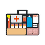 Medicine case. With full of medical instruments Stock Image