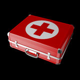Medicine chest. On a black background Stock Photos