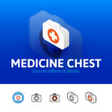 Medicine chest icon in different style Royalty Free Stock Image