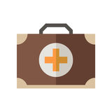 Medicine Chest Icon. Medicine chest vector icon. Doctor emergency case illustration. Flat medicine chest with cross  on white Royalty Free Stock Photography
