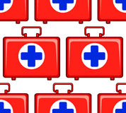 Medicine chest pattern Royalty Free Stock Photos