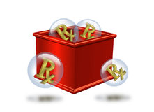 Medicine chest Rx symbol Stock Photos