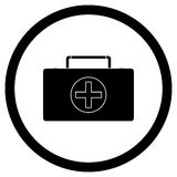 Medicine chest vector icon black Royalty Free Stock Images
