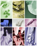 Medicine collage Royalty Free Stock Image