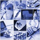 Medicine collage Royalty Free Stock Photo