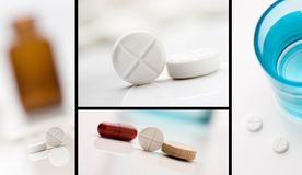 Medicine collage Stock Photo