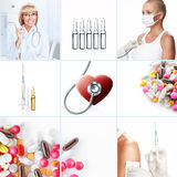 Medicine collage Royalty Free Stock Photo