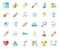 Medicine color icons, vector. Royalty Free Stock Photos