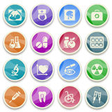 Medicine color icons. Stock Photo