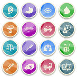 Medicine color icons. Royalty Free Stock Image