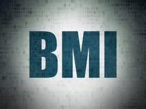 Medicine concept: BMI on Digital Data Paper background Stock Photo