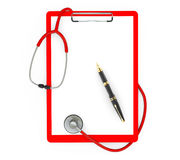 Medicine Concept. Clipboard with Stethoscope and Pen Stock Images